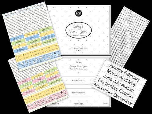 48078 Baby's First Year Calendar Kit - Baby Girl