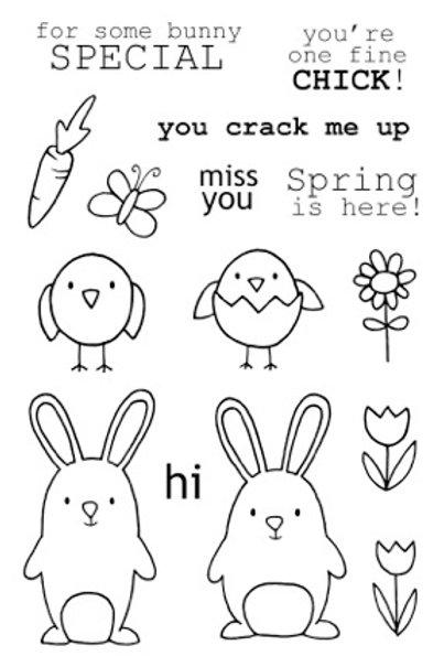 Springtime - Jane's Doodles Stamp