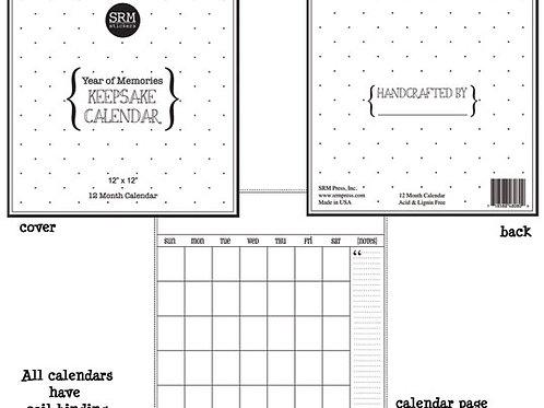 "8"" x 8"" Keepsake Calendar"