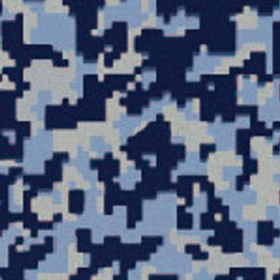 Digital Camo Blue Patterned Heat Transfer