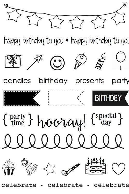 Birthday Plans - Planner Stamp