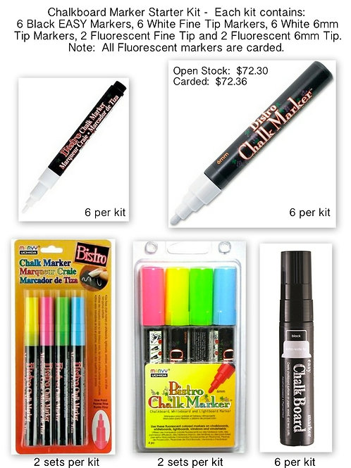 #78001 Chalkboard Marker Starter Kit Open Stock