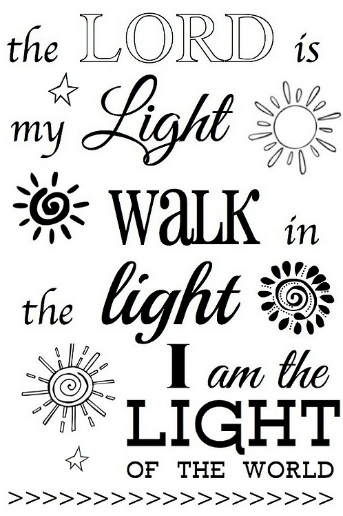 77047 The Lord is my Light Clear Stamp