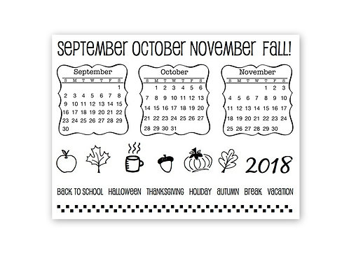 Fall Plans - Planner Clear Stamp