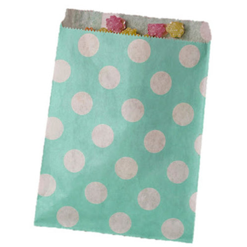 Patterned Bags - Turquoise Dots