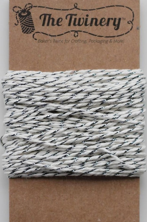 Gunmetal Shimmer Twinery Twine, Packaged