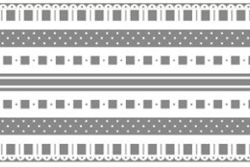 Little Borders #26062 -Silver & White - 1 Dozen