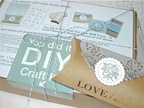75009 Wedding Kraft Pillow Box Favors