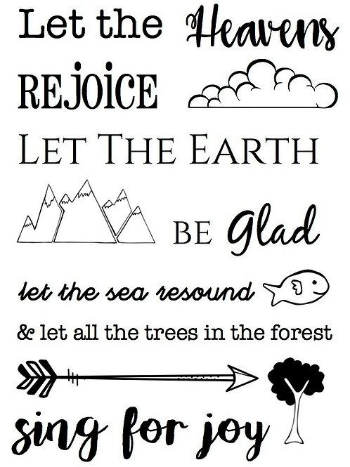 Heaven & Earth - Bible Journaling Stamp