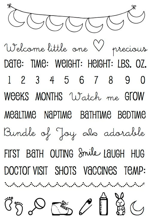 Baby Plans - Planner Stamp