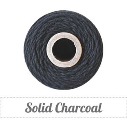 Solid Charcoal Twine