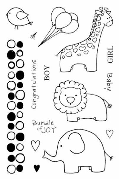 Baby Jungle - Jane's Doodles Stamp