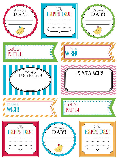 63007 Birthday Labels