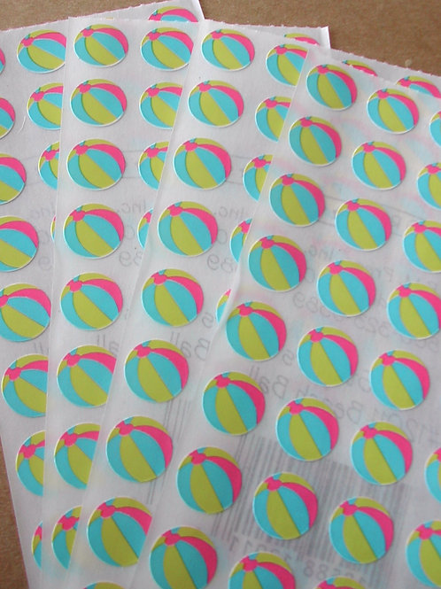 Tiny Sticker - Beachballs