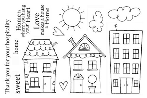Neighborhood - Jane's Doodles Stamp