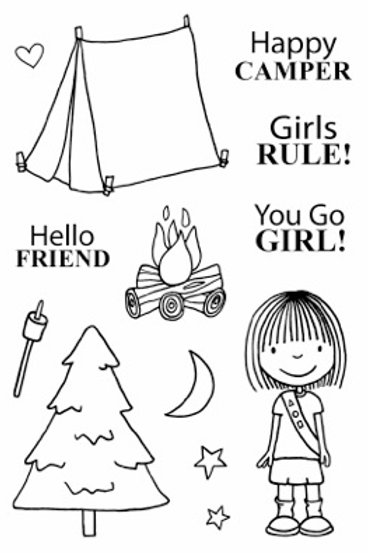 Happy Camper - Jane's Doodles Stamp