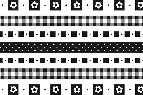 Little Borders #26051 - Black & White - 1 Dozen