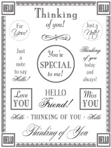 55008 Thinking of You Fancy Sticker Sentiment
