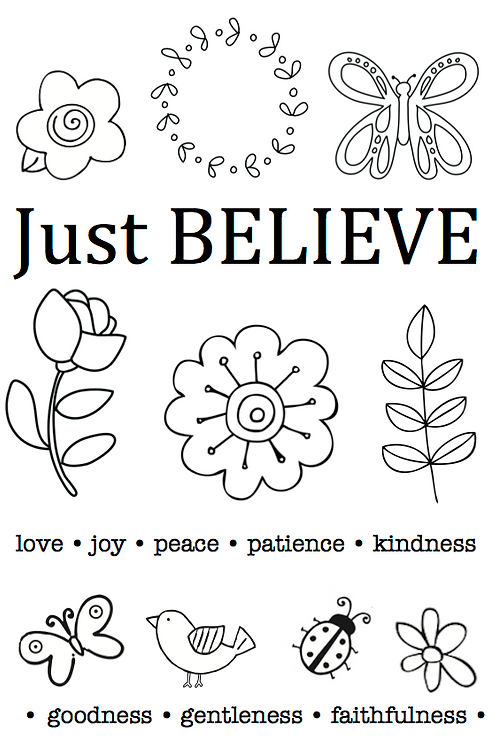 77045 Just Believe Clear Stamp