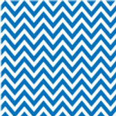 Patterned Vinyl - Blue Chevron - 10 sheets