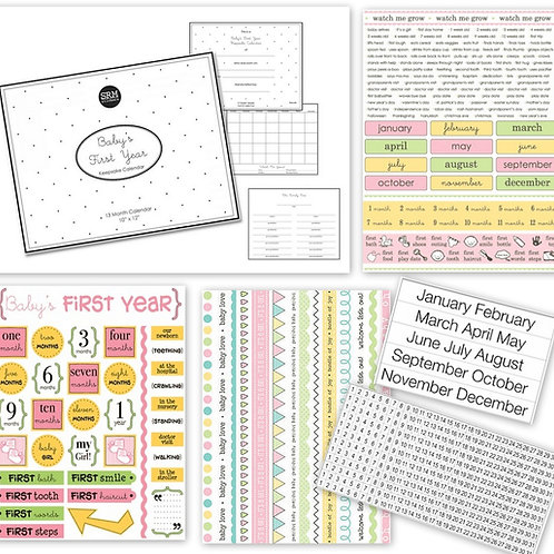 Baby's First Year Planner Kit - Girl