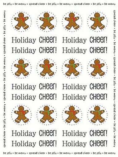 62011 Gingerbread Stickers by the Dozen