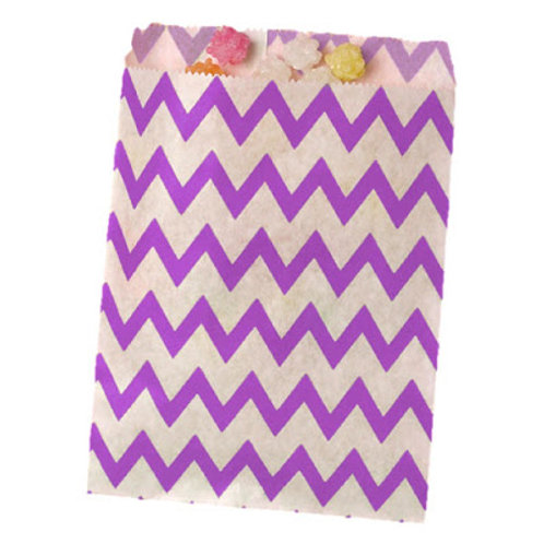 Patterned Bags - Purple Chevron