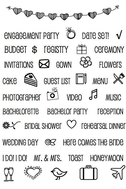 Wedding Plans - Planner Stamp