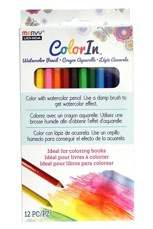 12 Piece Water Color Pencil Set