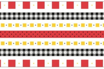 Little Borders #26001 - Red/Black/Yellow - 1 Dozen