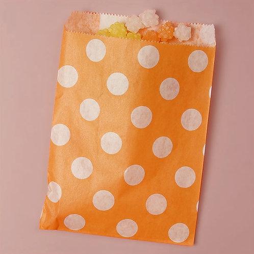 Tangerine Dot Bags