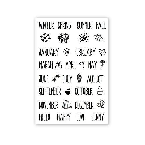 Seasonal Plans - Planner Clear Stamp