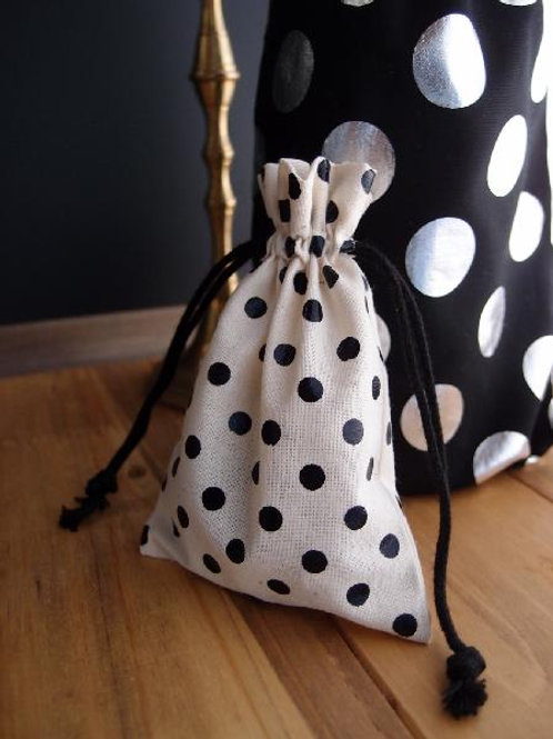 Cotton Bag with Black Dots