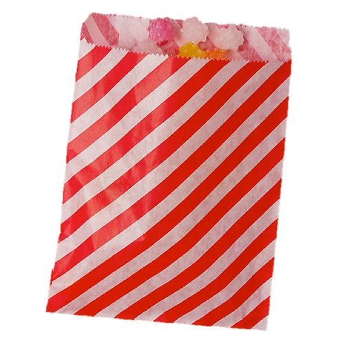 Patterned Bags - LARGE - Red Stripes