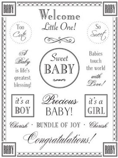 55005 Baby Fancy Sticker Sentiment