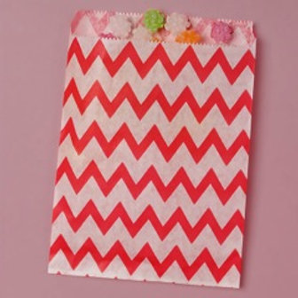 Red Chevron Bags