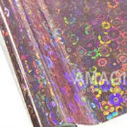 Pink Flower Power Textile Foil