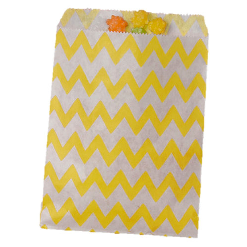 Patterned Bags - Yellow Chevron
