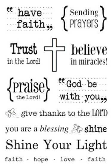 Words of Faith - SRM Stamps by Susan