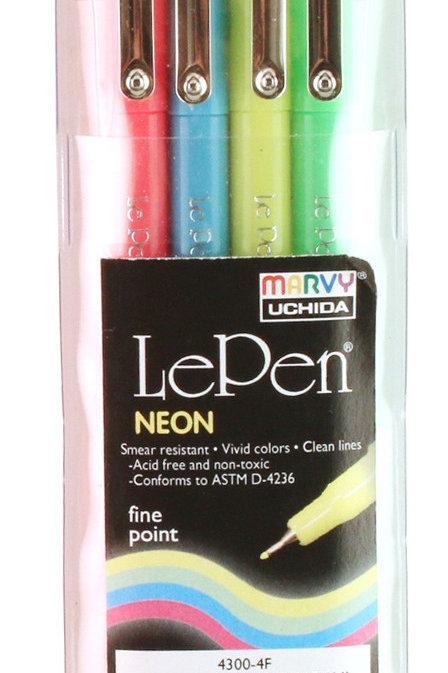 Le Pen Neon Colors - 4 piece set