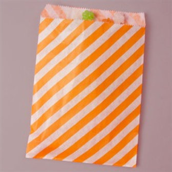 Tangerine Stripe Bags