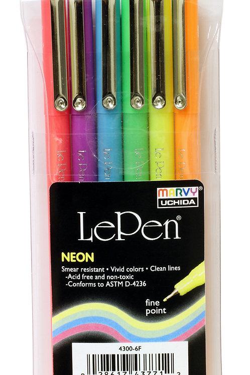 Le Pen Neon Colors - 6 piece set