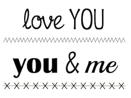 77029 BIG Love You Clear Stamp