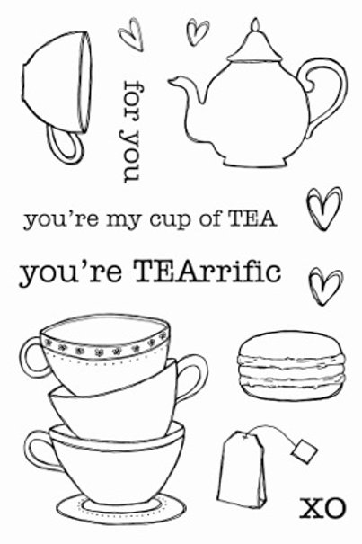 Tea Time - Jane's Doodles Stamp