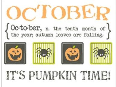 Monthly Memories - October