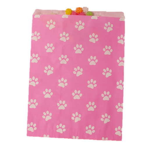 Paw Print Patterned Bags - Pink/White
