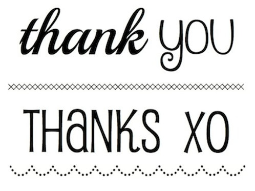 77028 BIG Thank You Clear Stamp