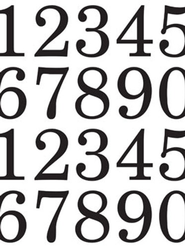 48095 Numbers Extra Large Black