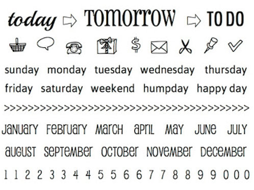 Today, Tomorrow To Do  - SRM Planner Stamps