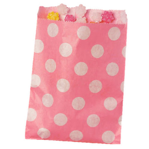 Patterned Bags - Light Pink Dots